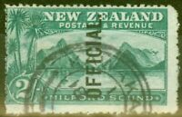 New Zealand 1907 2s Blue-Green SG066 Fine Used