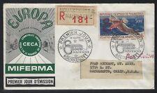 1962 Mauritania Scott #C16 with EUROPA/CECA/MIFERMA Overprint FDC