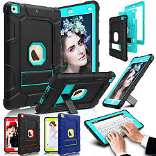 For Apple iPad 9.7 inch 6th Gen 2018 Shockproof Rubber Hard Kickstand Case Cover
