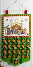 Bucilla Christmas Pageant ~ Felt X-Stitch Nativity Advent Calendar Kit #86388