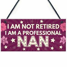 Mothers Day Birthday Gift For Nan Nanny Nana Grandma Hanging Plaque Gifts