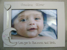 personalised photo frame. 6x4 inch. GRANDSON love you to the moon and back