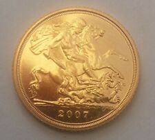 2007 Gold Half Sovereign in Capsule.