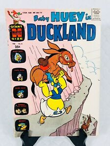 HARVEY COMICS * BABY HUEY IN DUCKLAND * GIANT 🍼🍼 #6 SILVER AGE VG