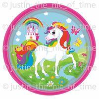 UNICORN Rainbow Girls Birthday Party Tableware Plates Cups Napkins Tablecover