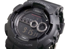 Casio G-Shock Mens Wrist Watch GD100-1B  GD-100-1BDR Digital Black New