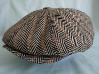 BROWN 1900,S 1920,S 1930,s RETRO VICTORIAN EDWARDIAN PEAKY BLINDERS CAP