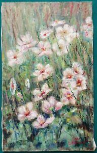 Quadro - Campo di fiori rosa, Umberto Franzosi - Olio su tela - 40x65 cm