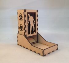 Zombie Dice Tower Purple Acrylic Window Laser Cut MDF v1