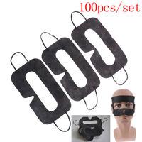 100 STÜCKE Schwarz Schutz Hygiene 3D VR Brille Augenmaske Pads für BCDE