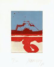 """Markus Prachensky """"Rote Reise 1"""", 1973, Farbaquatintaradierung"""
