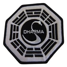 """LOST DHARMA The Swan Station 4"""" Logo Sew Ironed On Embroidery Applique Patch"""