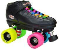 NEW Riedell R3 Rainbow Evolve Quad Roller Derby Speed Skates!