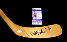 AXEL HOLMSTROM SIGNED DETROIT RED WINGS STICK JSA SIGNATURE DEBUT AUTHENTICATED