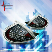 2000-2002 Dodge Neon LED Tail Lights Black Housing Clear Lens Rear Lamps PAIR
