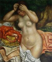 Hand Painted Oil Painting Repro Renoir Pierre Bather Arranging Her Hair 20x24in