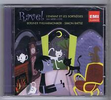SIMON RATTLE CD NEW RAVEL L'ENFANT ET LES SORTILEGES MA MERE L'OYE
