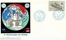 1959//ENVELOPPE FDC 1°JOUR!!**PALAIS DE L' O.T.A.N-PARIS**TIMBRE Y/T 1228