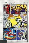 Original 1983 Red Sonja 3 page 33 original Marvel Comics 1980's color guide art