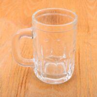 Vintage Clear Glass Stein