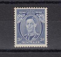 Australia KGVI 1938 3d Blue Die III SG168c MNH (Slight Toning) JK358