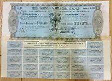 662) Scripofilia Azioni Debito 5% Unificato della città di Napoli 1881