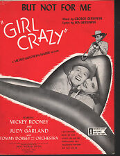 But Not For Me Girl Crazy Judy Garland Mickey Rooney Sheet Music