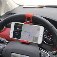 AUTO DECORATIVE ACCESSORIES Car Steering Wheel Bike Handlebar Phone Holder Clip@