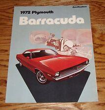 Original 1972 Plymouth Barracuda Specifications Brochure - Canadian 72