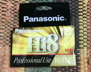 Panasonic Hi8 8mm Camcorder Video Tape 120 Minutes Professional Use Sealed