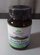 Organic India - Breathe Free, Respiratory Support, 90 Veg Capsules SEALED NEW