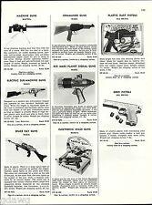 1956 ADVERT Toy Guns Marx Rex Mars Planet Signal Sub Machine Apace ray Mattel