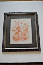 """Mid-century Italian lithograph with COA of """"Orlando furioso"""" by F. Clerici"""