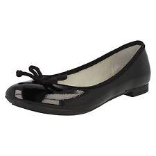 Ladies Clarks Carousel Ride Black Patent Slip on Ballerina Style Shoes UK 7 EU 41