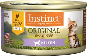 24x Instinct Kitten Grain Free Chicken Formula Canned Cat Food 3 oz Cans