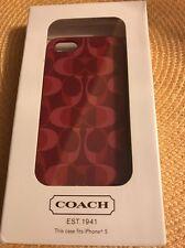 "Coach IPhone 5/5s Hard shell Case Purple & Pink Signature ""C"" NWB"