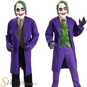 Boys Joker Fancy Dress Costume Batman Dark Knight Halloween Villian Child Outfit