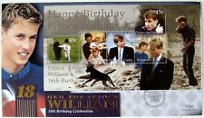 2000 PRINCE WILLIAM BENHAM FDC TRISTAN DA CUNHA FIRST DAY COVER 18TH BIRTHDAY