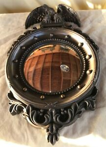 Vtg MCM Patriotic Federal Eagle Porthole HOMCO 2340 USA Convex Mirror Wall Decor