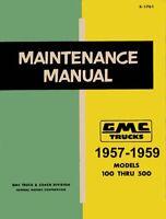 1957 1958 1959 GMC Truck Shop Repair Service Manual Engine Drivetrain Electrical