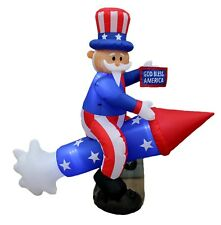 Patriotic Inflatable Independence Day Decoration Uncle Sam God Bless American