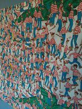 Vtg Wheres Waldo Fabric Curtain 32x32*Rare* Collectibles  1990