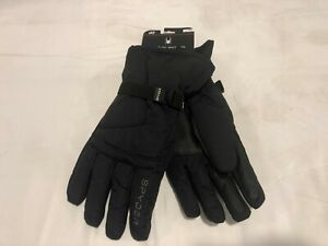 NWT $50.00 Mens Spyder Shredder Ski Gloves Black w/Gray Spider Size L / XL