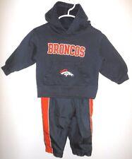 Denver Bronco boy 2T hoodie sweatshirt plus Reebok lined pants,navy,orange