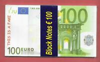 Bloc-notes - Imitation billet de 100 euros - Jamais servi