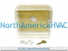 NEW Thermostat Guard Clear Plastic Case with Base Lock & Key 5.25 x 4.38 x 3
