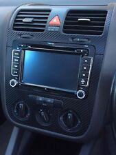 VW GOLF 5 V SET ALU CARBON FIBRE EFFECT consol, steering and air vents