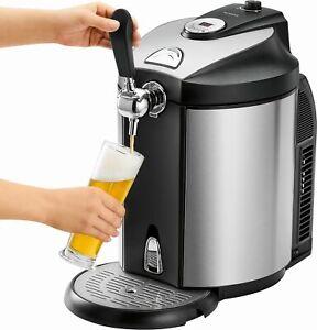Edelstahl Bier-Zapfanlage für 5 Liter Bier-Fässer mit Kühlung inkl. CO2 Kapseln