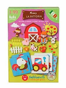 Sabbiarelli Smart Kit - Memory La Fattoria, giochi educativo made in italy