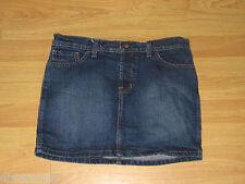 Quicksilver Roxy Juniors Size 5 Blue Jean Skirt 97% Cotton 3% Spandex Length 14